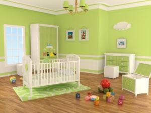 Decoracao quarto infantil com cores vibrantes - verde limao