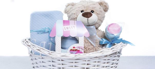 Cesta maternidade para presente nova mamãe e novo bebê