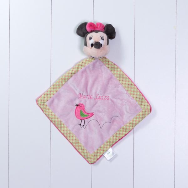 Naninha cheirinho soninho Minnie Disney personalizada rosa menina bebe comprar (e)