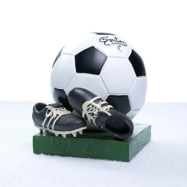 Cofrinho bola futebol personalizado menino bebe presente (e)
