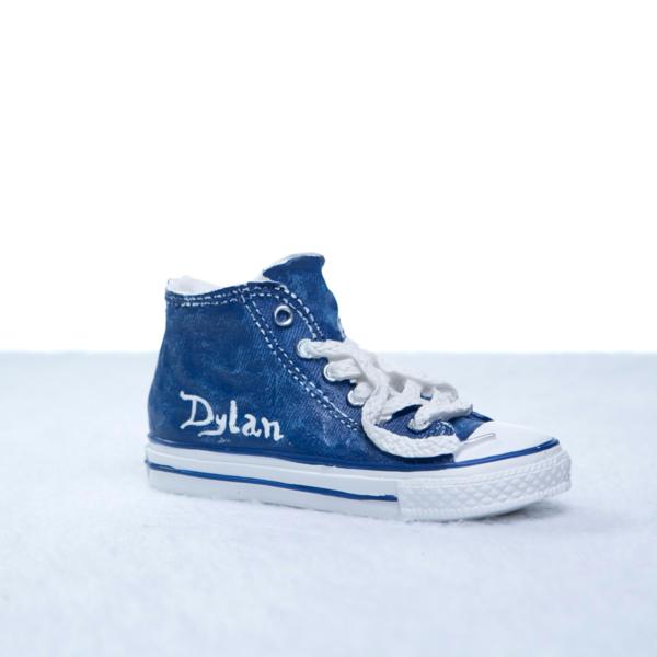 Cofrinho converse allstar azul personalizado menino bebe presente (e)