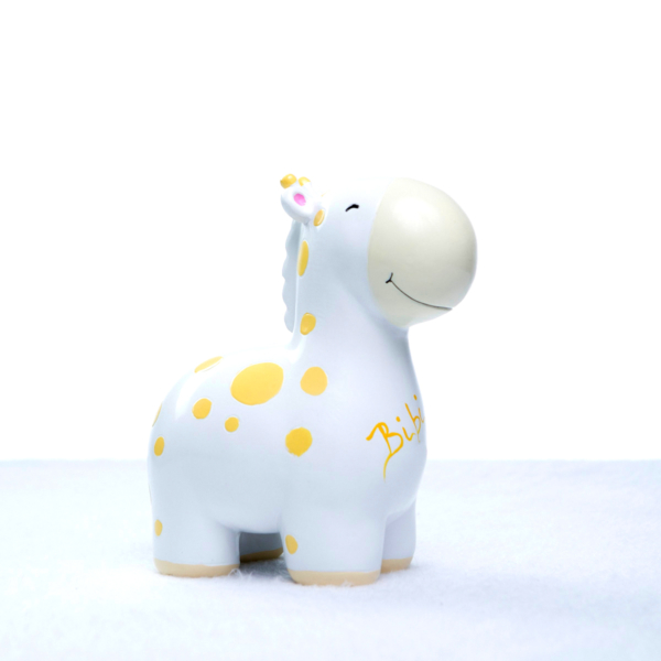 Cofrinho girafa personalizado menina menino bebe presente (e)