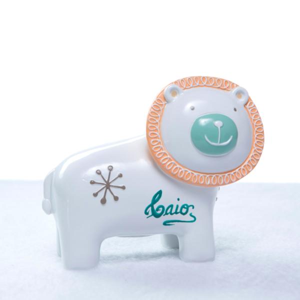 Cofrinho personalizado leao bebe crianca presente (e)