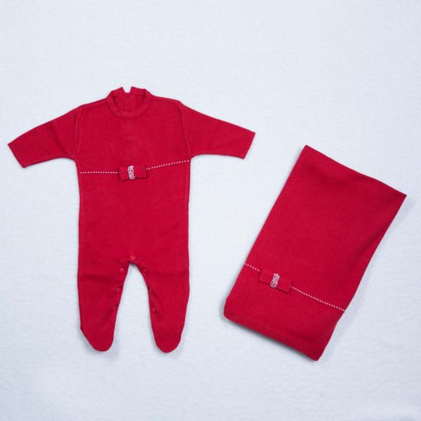Conjunto saida maternidade tiptop roupa manta fio personalizada bebe menina comprar (e)
