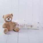 manta urso criança bebe beige fofa apeluciada presente