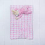Manta com pelucia urso rosa bebe presente personalizado comprar menina 2 (e)