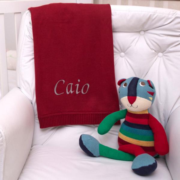 Manta fio tricot bordo com gato tricot presente personalizado bebe comprar (e)