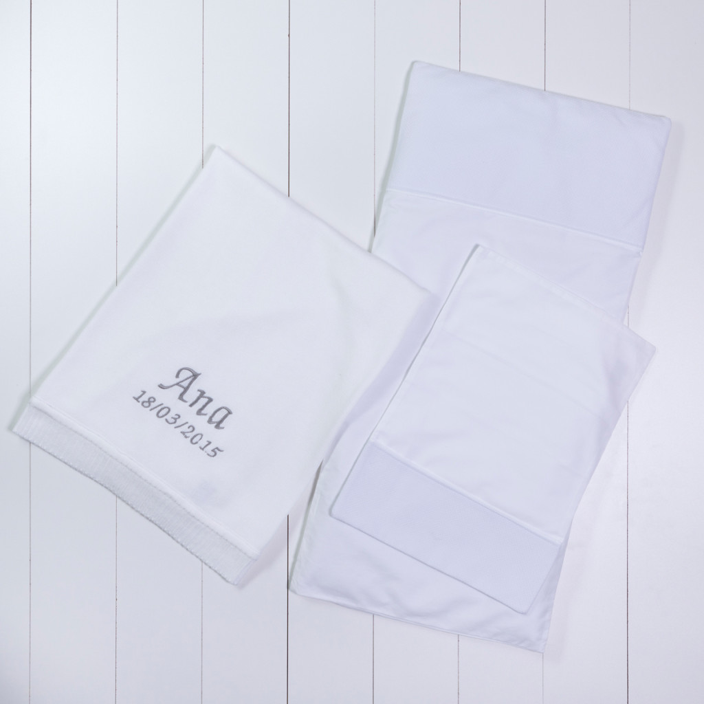Manta fio tricot colchenete travesseiro carrinho branca presente personalizado bebe comprar