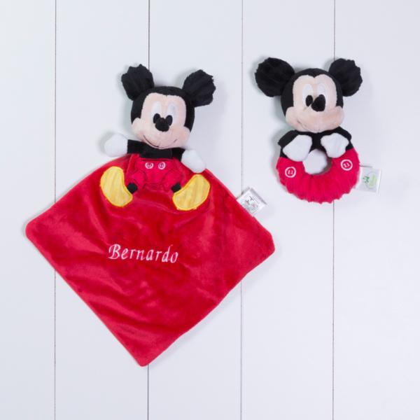 Naninha cheirinho soninho e chocalho Mickey Disney personalizada menino bebe comprar
