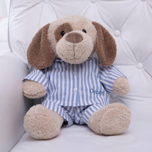 Pelucia cachorro pijama personalizado comprar presente bebe crianca 2 (e)