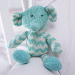 Pelucia elefantinho tricot presente bebe comprar