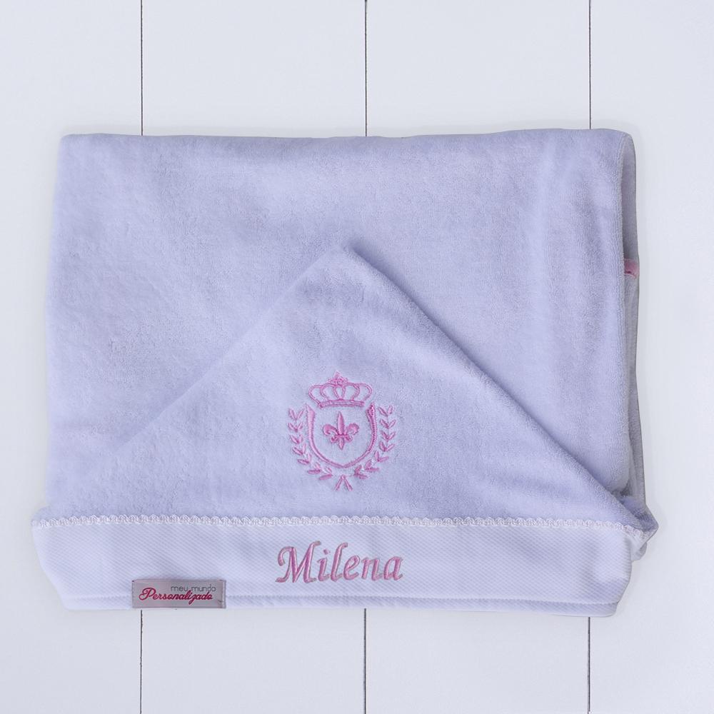 Presente para bebê recém nascido menina toalha com capuz com bordado