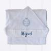 presente para bebê - toalha com capuz personalizada para bebê menino