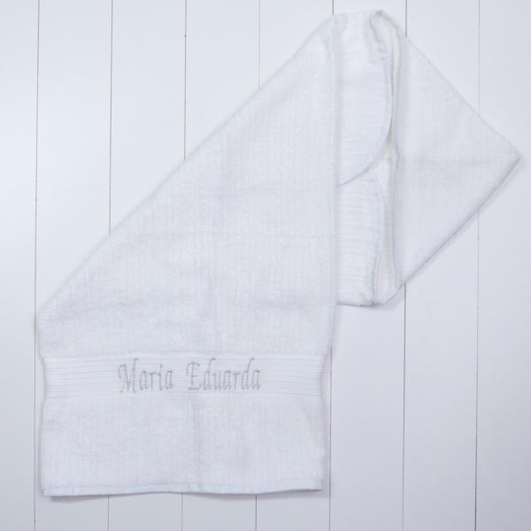 Toalha banho felpuda luxo capuz personalizada bebe menina menino branca comprar