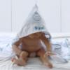 Presente para bebê menino - toalha com capuz personalizada