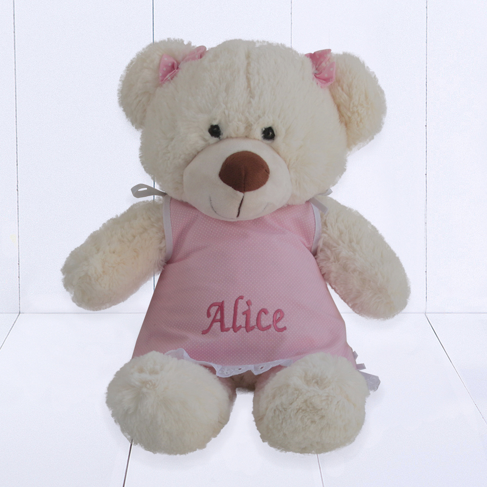 Presente para bebê - ursinho de pelúcia personalizado