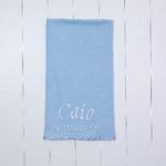 Manta Matelasse azul presente personalizado bebe recem-nascido maternidade