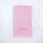 Manta matelassê rosa menina presente especial único maternidade chá bebê natal dia crianças comprar