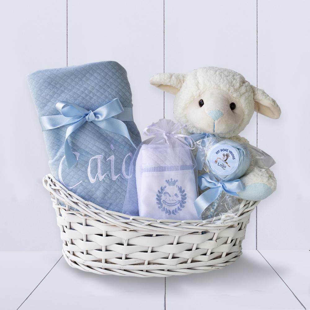 Cesta Maternidade Meninos Azul
