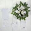 Bouquet kit maternidade branco para cha de bebe e na saida da maternidade
