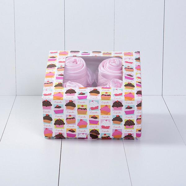 Cupcake babador babeiro paninho boca bebe presente personalizado menina rosa