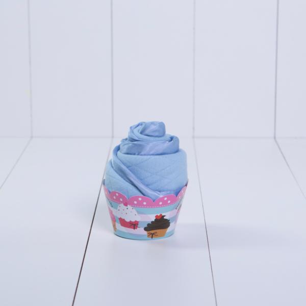 Caixa 1 cupcake roupa bebe azul menino