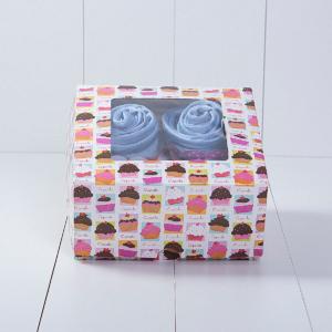 Caixa 4 cupcake roupa bebe azul menino