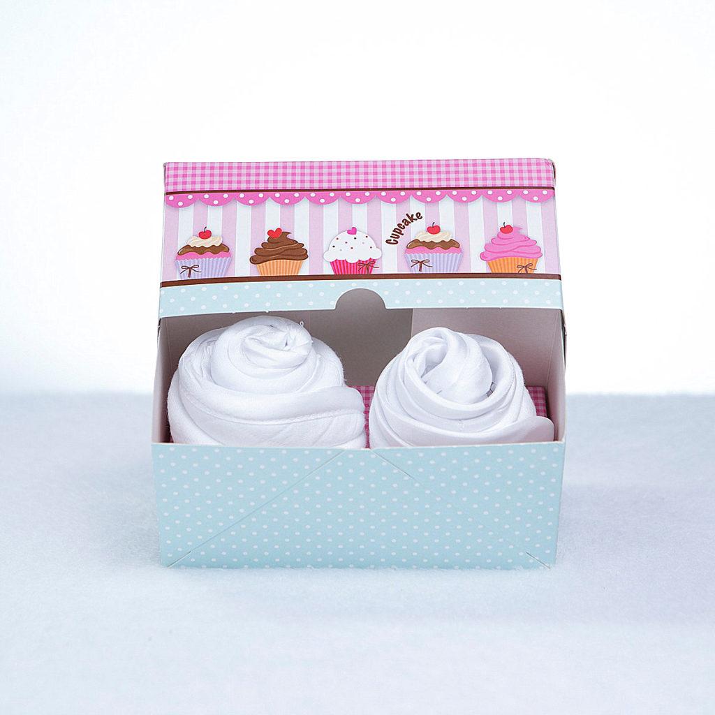 Cupcake babador babeiro paninho boca bebe presente personalizado menino menina branco