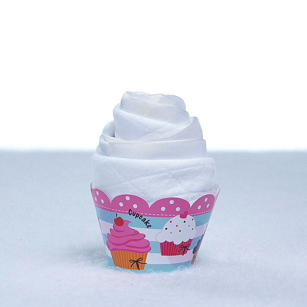 Cupcake babador babeiro paninho boca bebe presente personalizado menino menina branco (2)