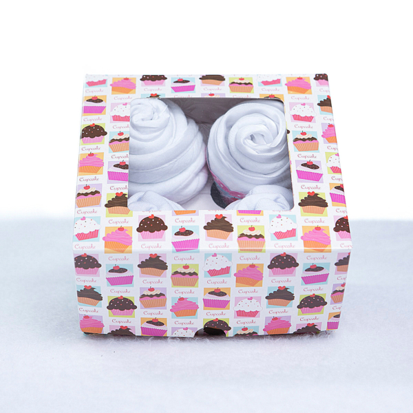 Cupcake babador babeiro paninho boca bebe presente personalizado menino menina branco (3)