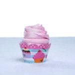 Cupcake babador babeiro paninho boca bebe rosa