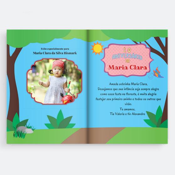 Livro personalizado. Presente para criança de 2 anos