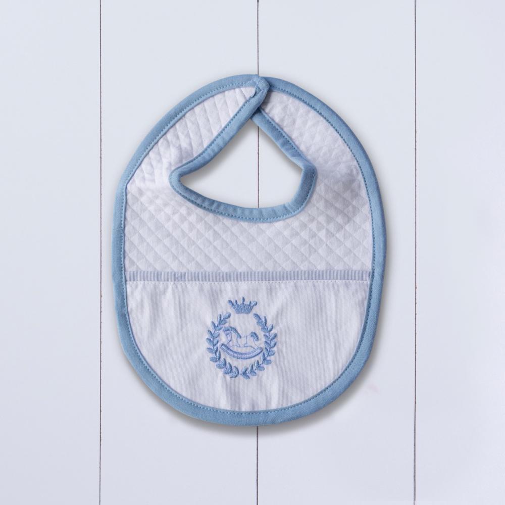 babador bebê azul personalizado