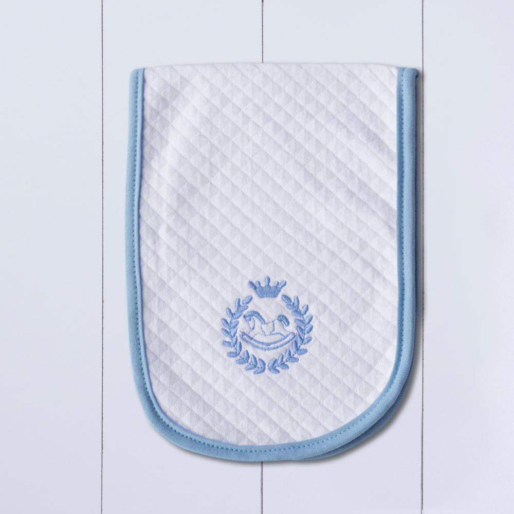 paninho boca para bebê azul