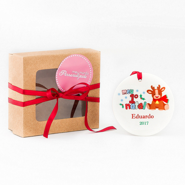 Enfeite personalizado para a árvore de Natal barato comprar