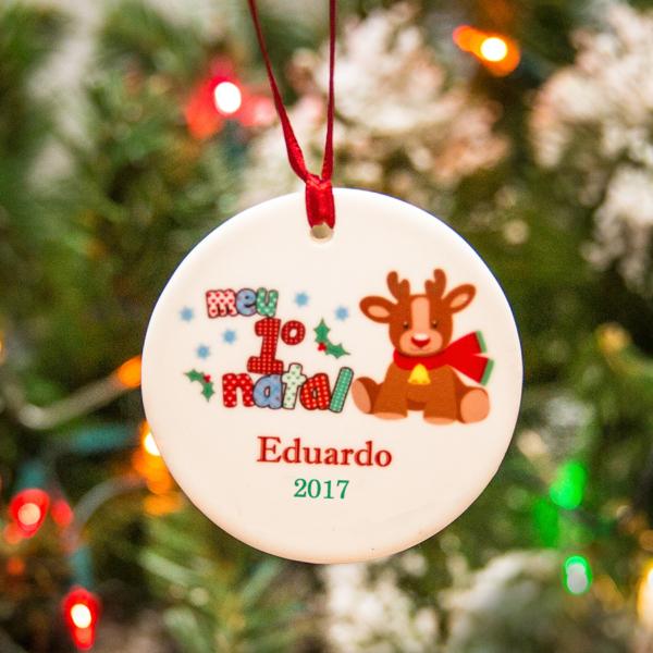 Enfeite personalizado na árvore de Natal. Ideia de presente para gestante e para bebe recem-nascido