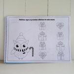 Livro de colorir atividades natal personalizado coruja