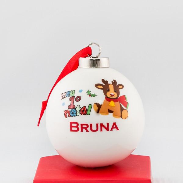 Bola ceramica para arvore Meu Primeiro Natal