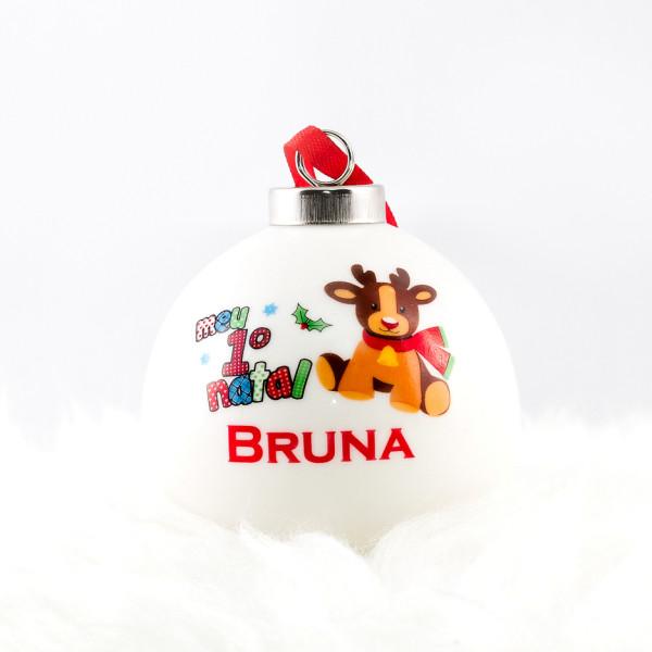 Bola de cerâmica Meu Primeiro Natal