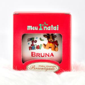 Bola de cerâmica Meu Primeiro Natal na caixinha