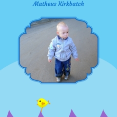 Folha de rosto do livro eu aprendo a contar até 10 com foto da criança