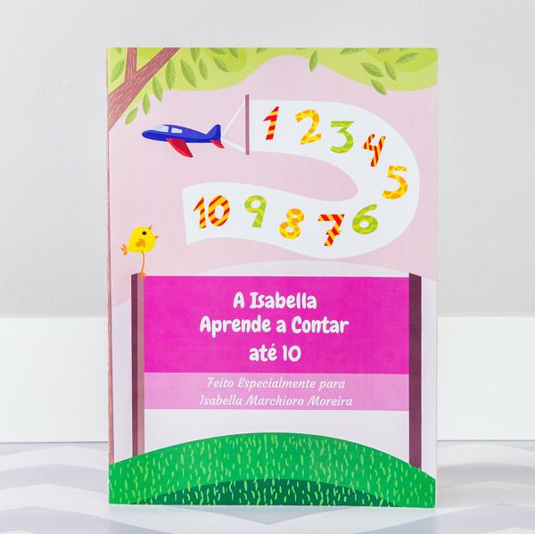 Livro Infantil Personalizado aprendendo a contar meninas capa