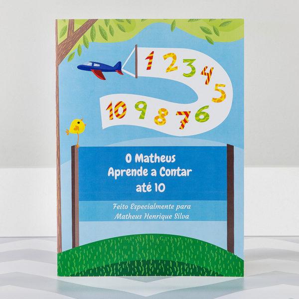 Livro Infantil Personalziado aprendendo a contar meninos capa