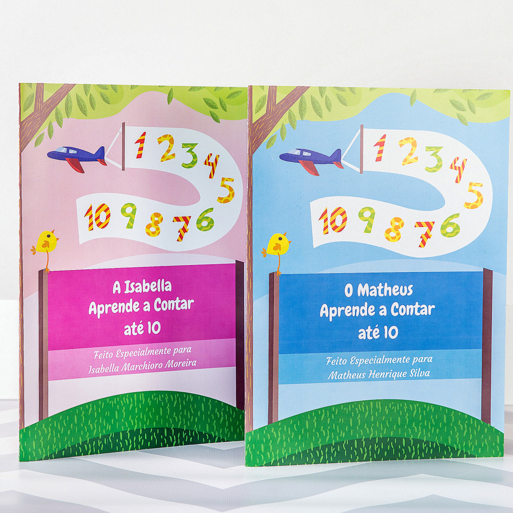 Livro Infantil Personalziado aprendendo a contar meninos meninas capa