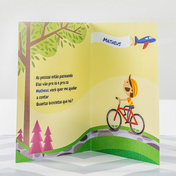 Livro personalizado ara crianças Aprendendo a Contar
