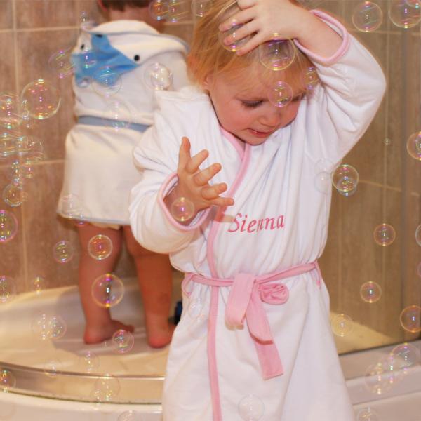 Roupão personalizado bebê criança meninas