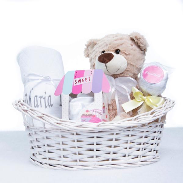 Cesta kit maternidade para presentear recem-nascido na maternidade