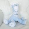 Bicho de pelucia personalizada com o nome do bebe ou da crianca. Ideia para recem-nascidos gemeos