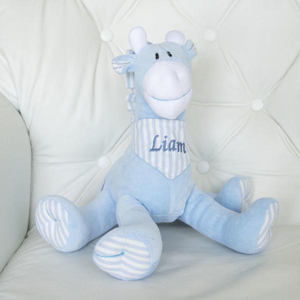 Girafa com a bandana personalizada azul