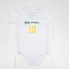 Body bebe ersonalizado com as cores do Brasil